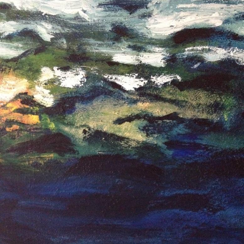 Målning på vattenblänk