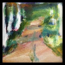 Målning av stig