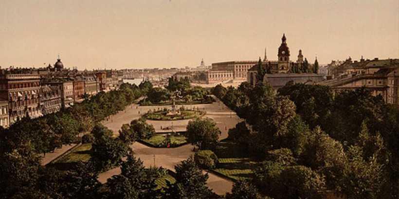 stor bild på gamla kungsträdgården