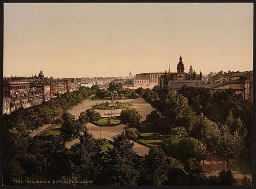 foto på Kungsträdgården förr