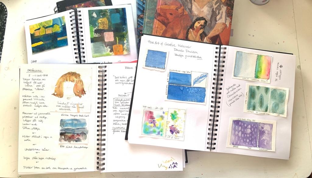 bild på olika skissböcker